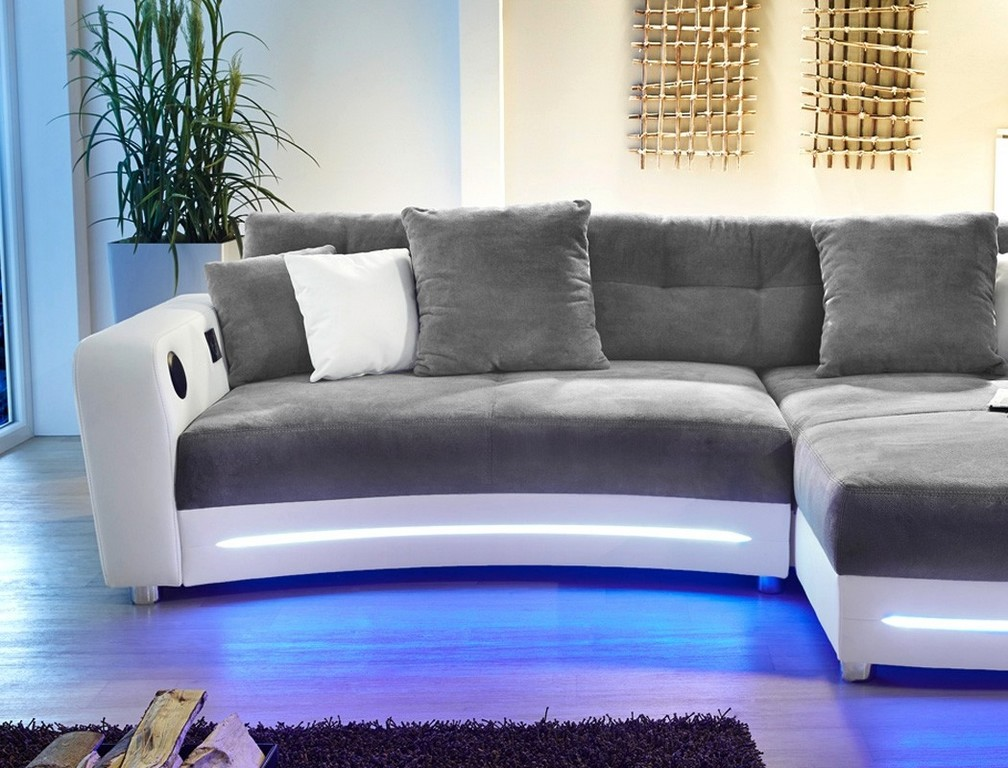 sofa mit led beleuchtung und sound poco haus ideen. Black Bedroom Furniture Sets. Home Design Ideas