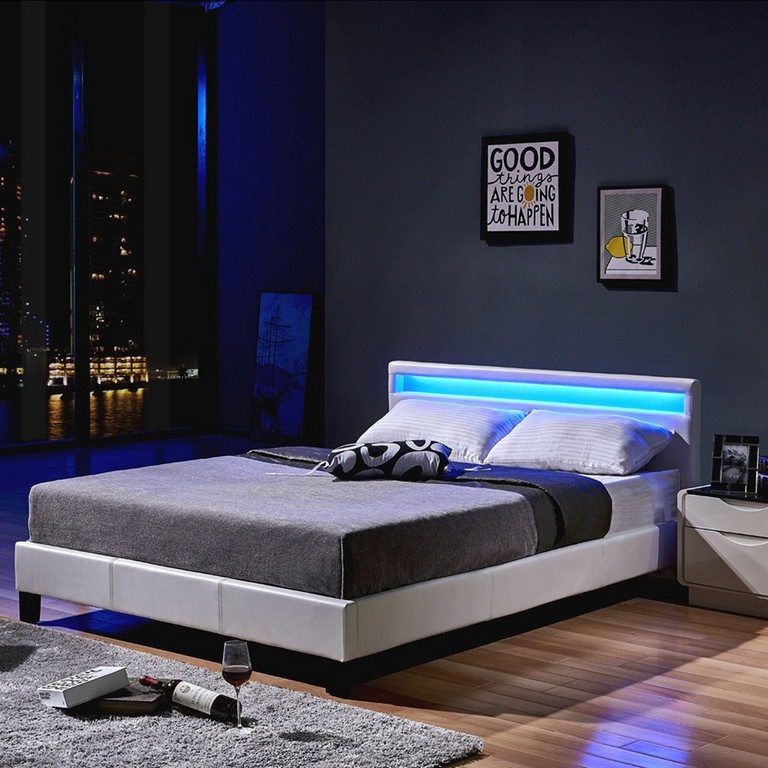 bett mit led beleuchtung 160x200 haus ideen. Black Bedroom Furniture Sets. Home Design Ideas