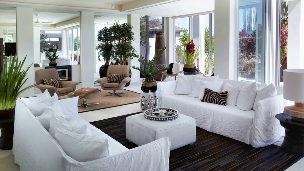 living room with two couches 2 sofas facing each other haus ideen 21583