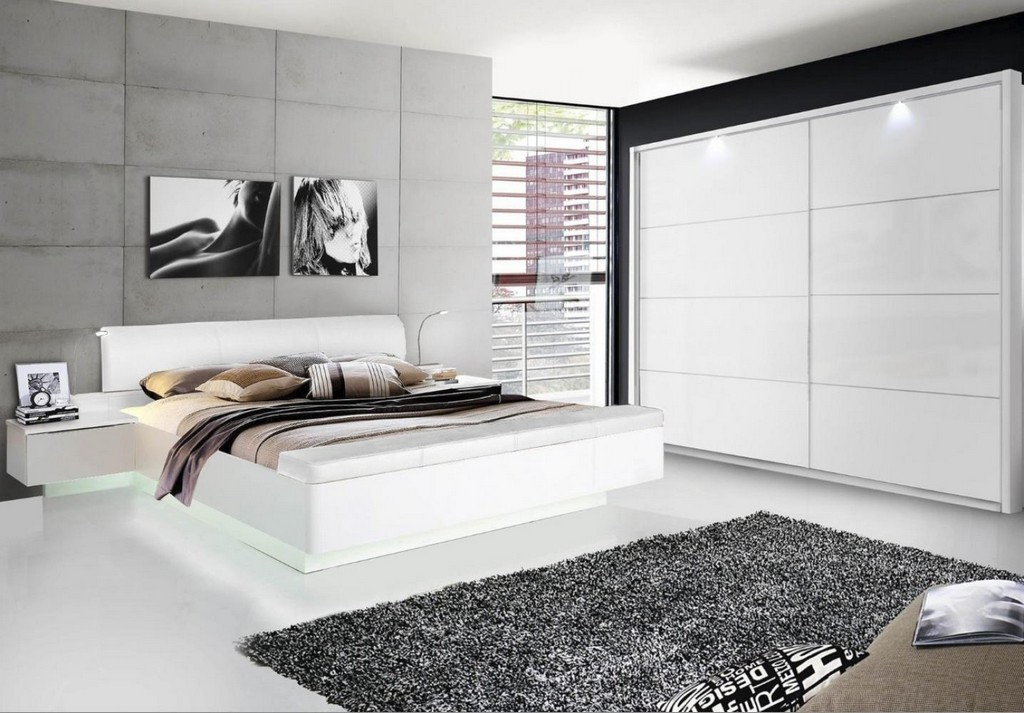 schlafzimmer in wei hochglanz haus ideen. Black Bedroom Furniture Sets. Home Design Ideas