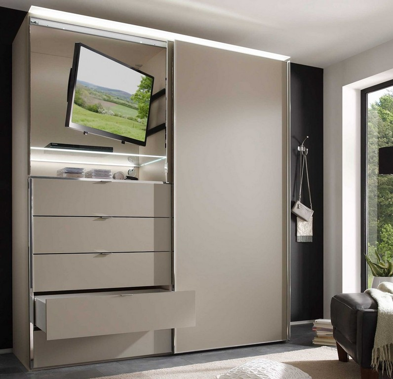 schlafzimmerschrank mit tv fach haus ideen. Black Bedroom Furniture Sets. Home Design Ideas