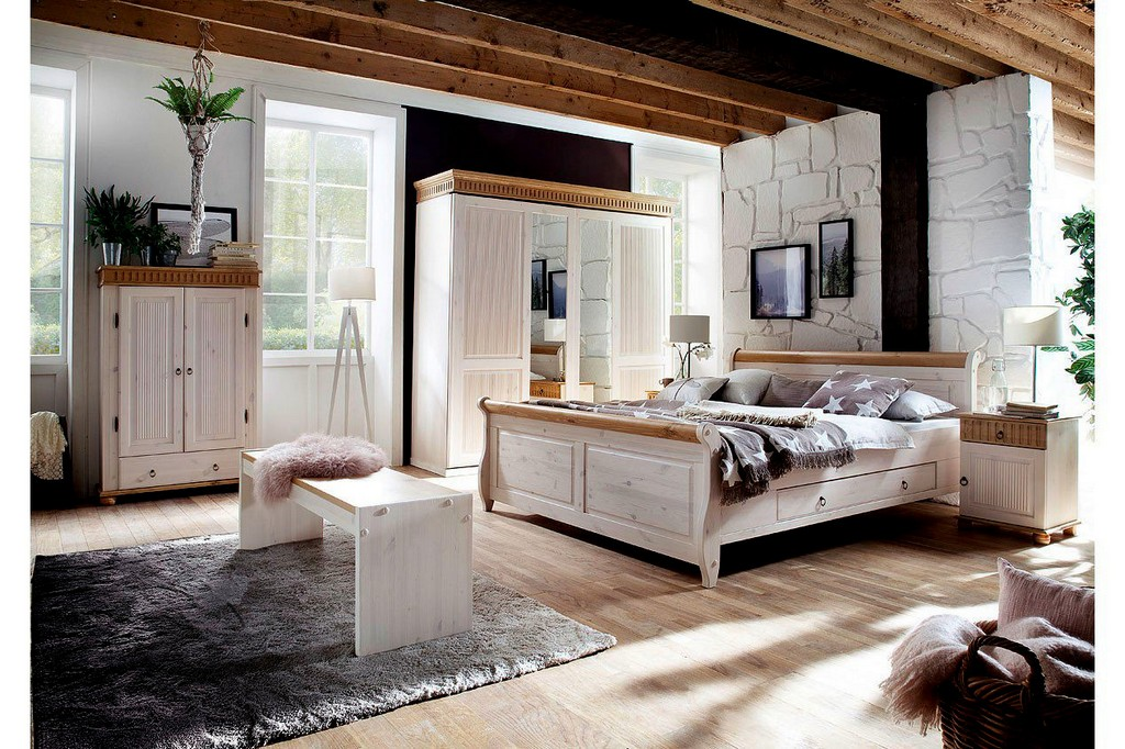 lmie schlafzimmer malta kiefer massiv wei haus ideen. Black Bedroom Furniture Sets. Home Design Ideas