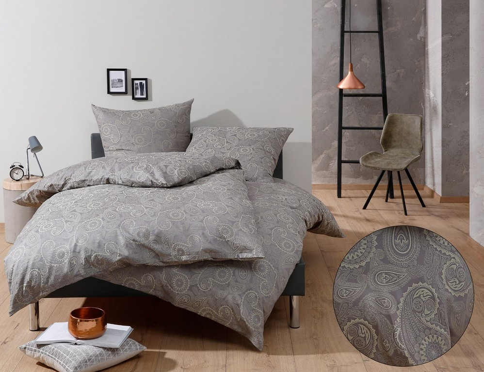 bettw sche grau muster haus ideen. Black Bedroom Furniture Sets. Home Design Ideas