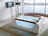 Eckbadewanne 2 Personen Schn Freistehende Whirlpool Badewanne M206 with regard to measurements 1500 X 1085