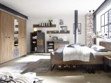 Schlafzimmer Industrial Style Bett In 180 X 200 Cm Stirling Oak within dimensions 3508 X 1872